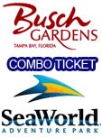 Sea World Busch Gardens Combo